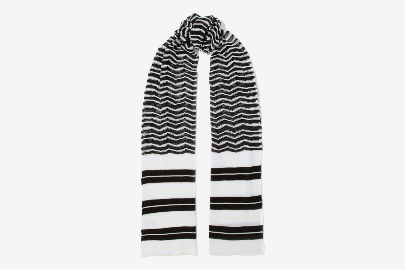 M Missoni Crochet Cotton-Blend Scarf