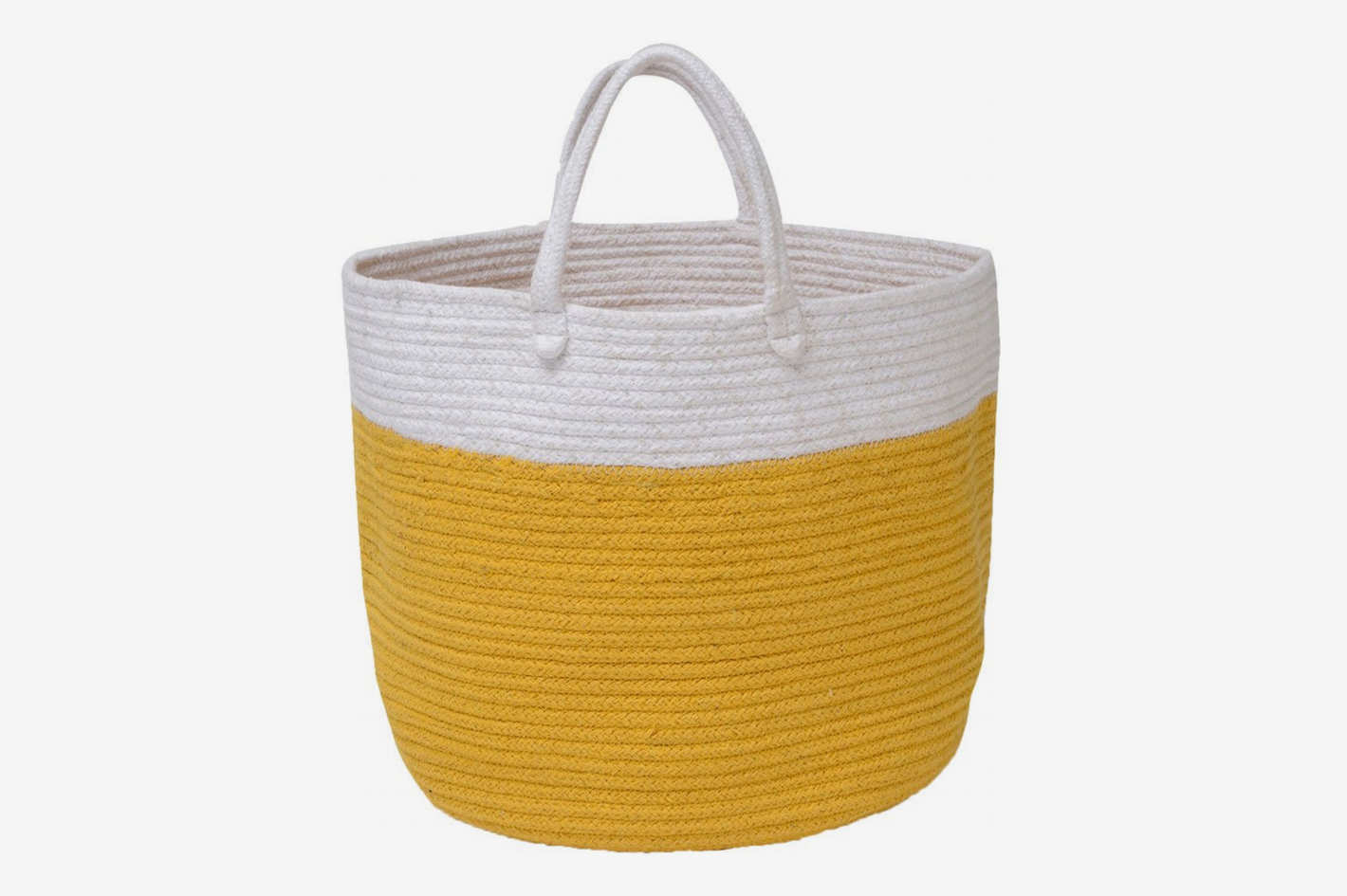 Waggo Dipped Color Storage Bin Mustard