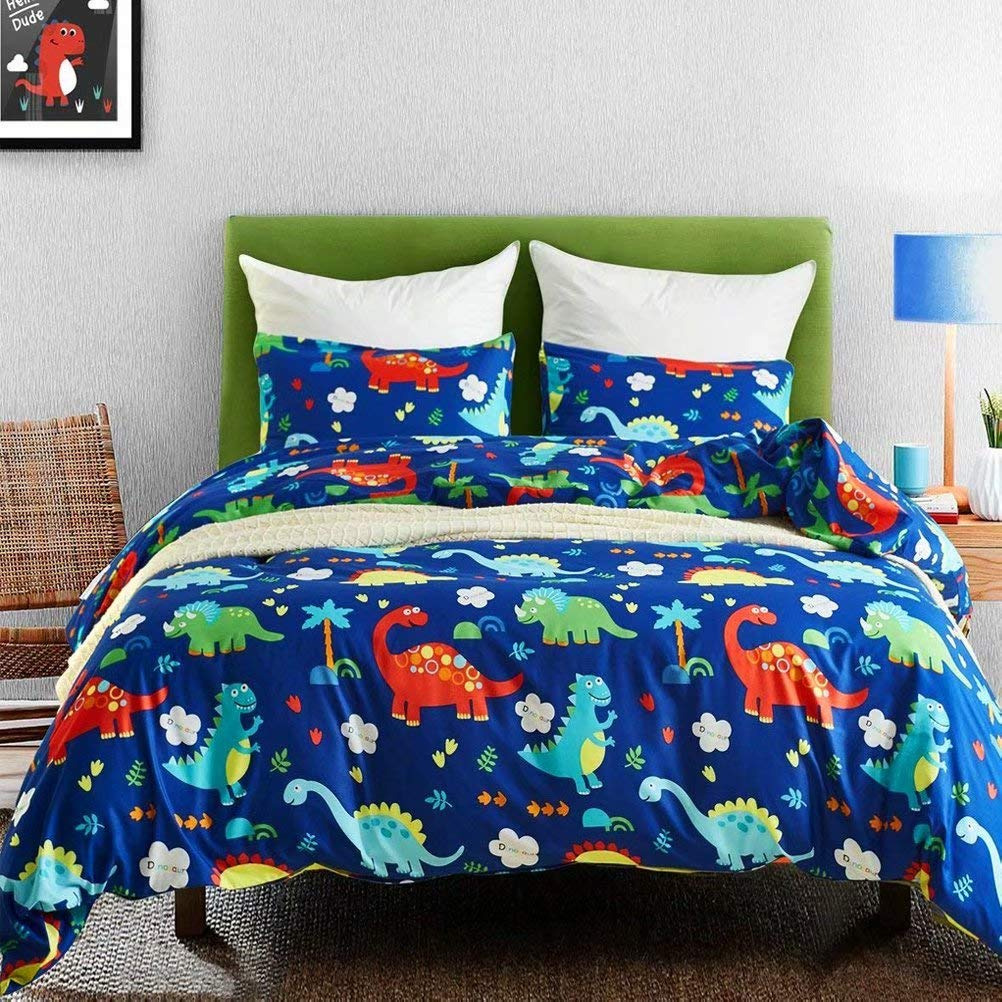 Macohome Dinosaur Twin Duvet Cover Set