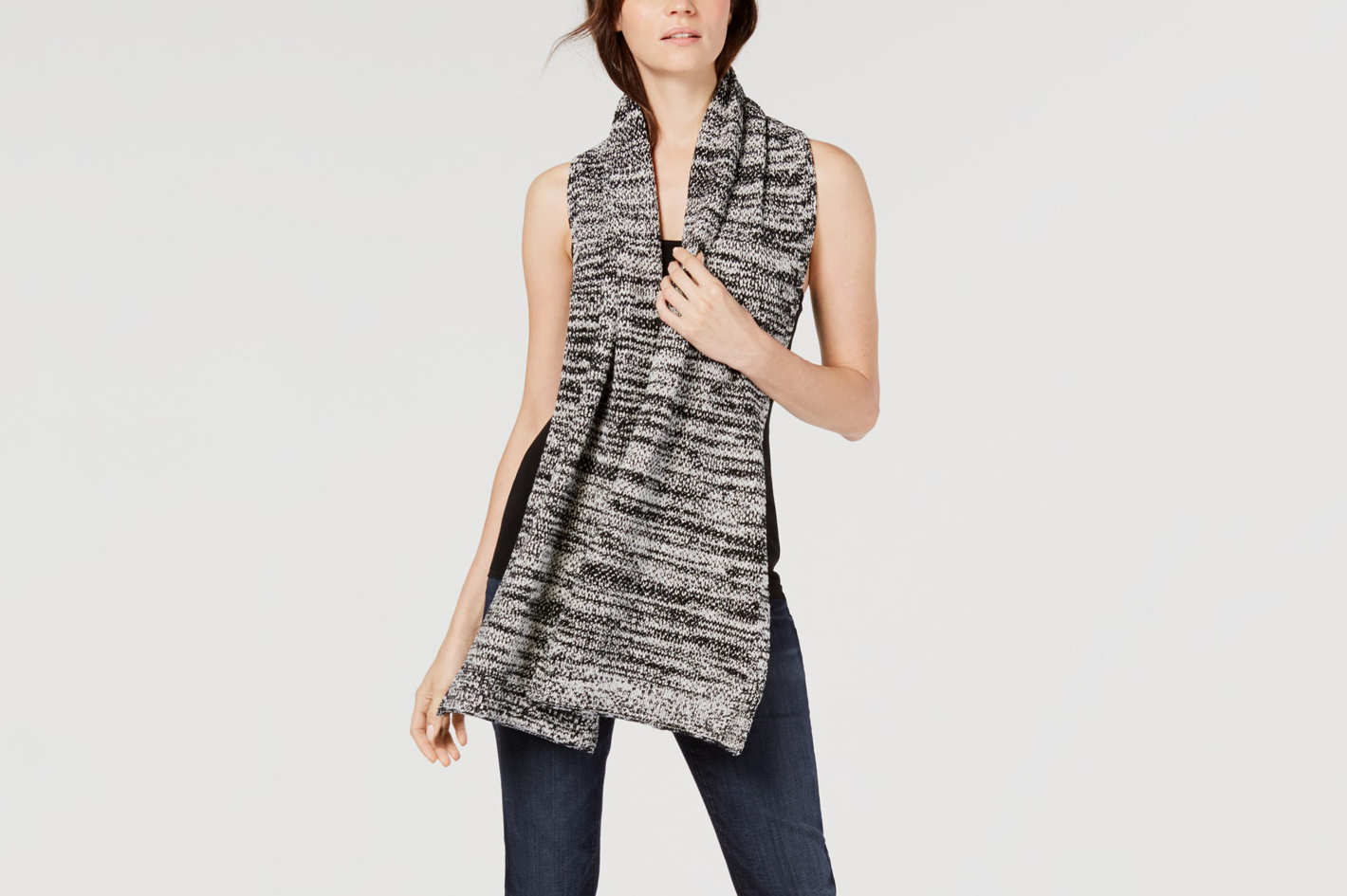 Eileen Fisher Printed Organic Cotton Scarf
