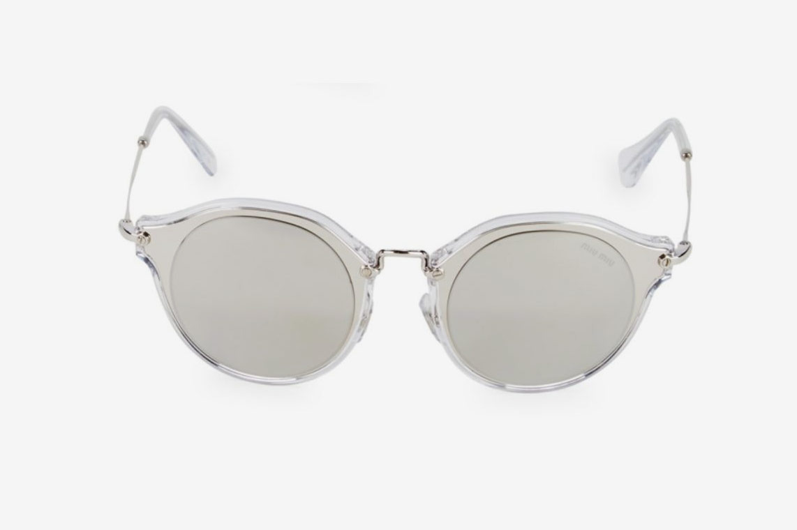 Miu Miu Lucite 49MM Round Sunglasses