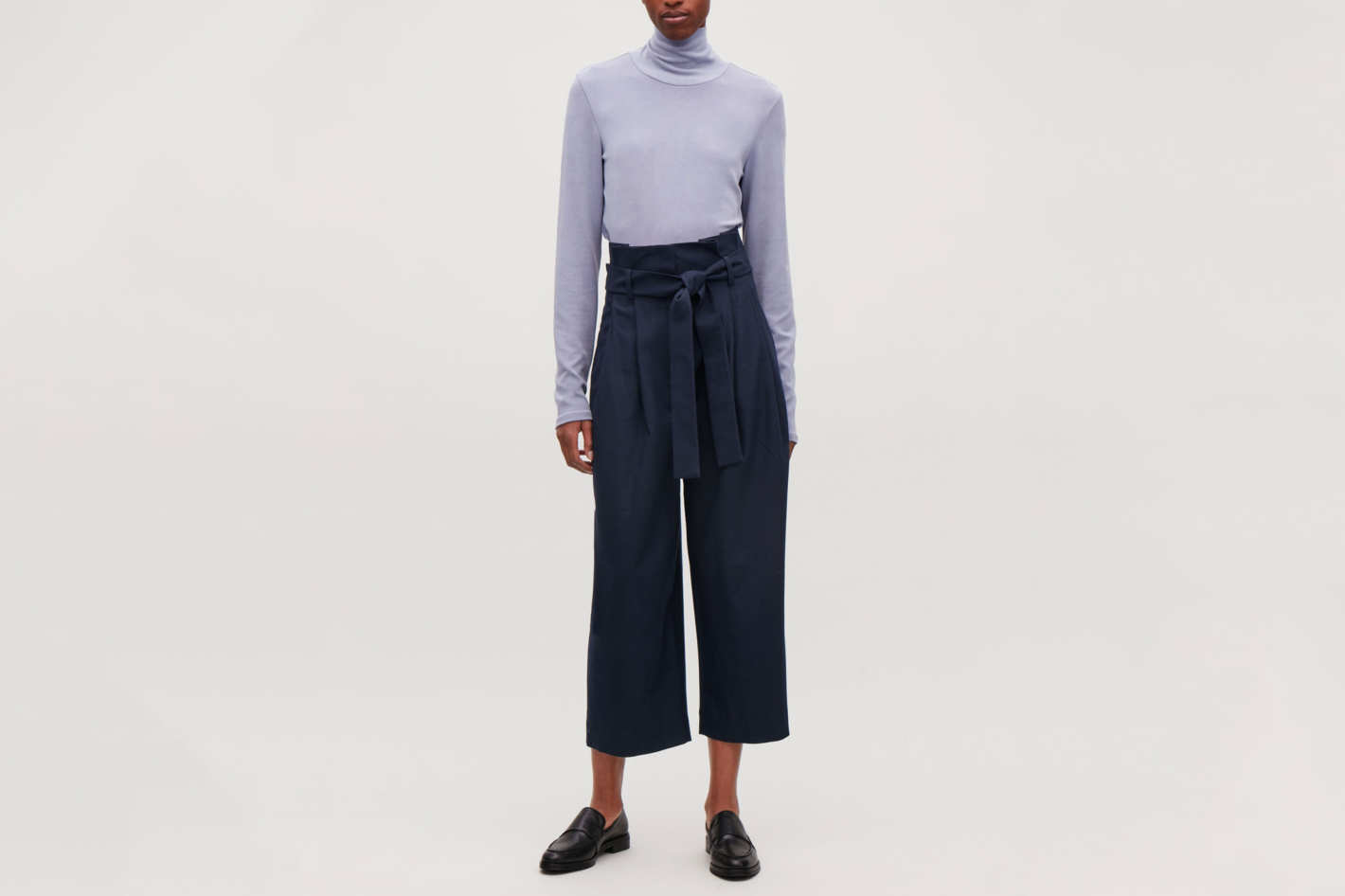 COS Wool Trousers with Pleated Waist