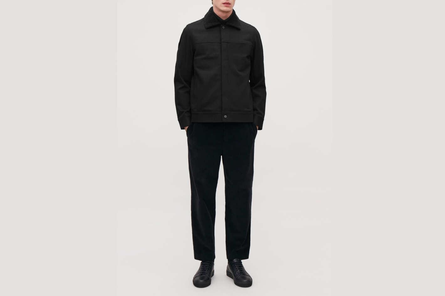 COS Denim Jacket with Teddy Lining