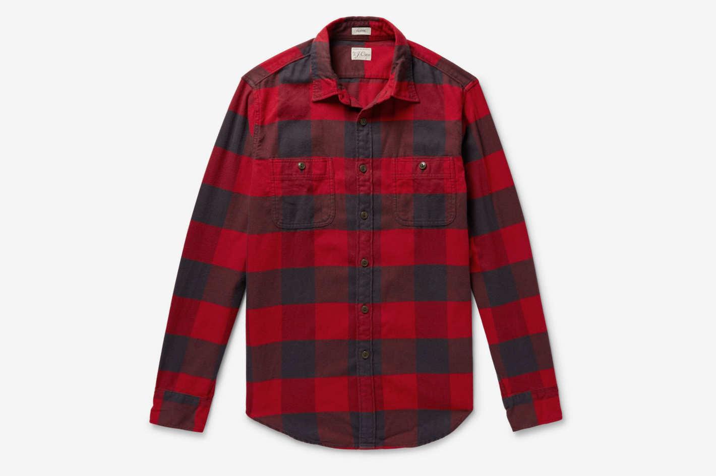 J.Crew Buffalo-Check Cotton-Flannel Shirt
