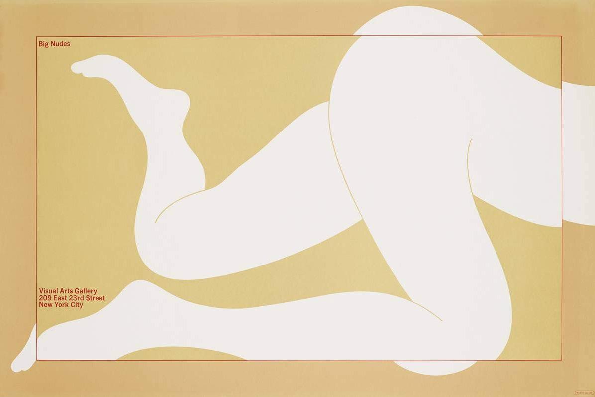 """Milton Glaser """"Big Nudes"""" Poster"""