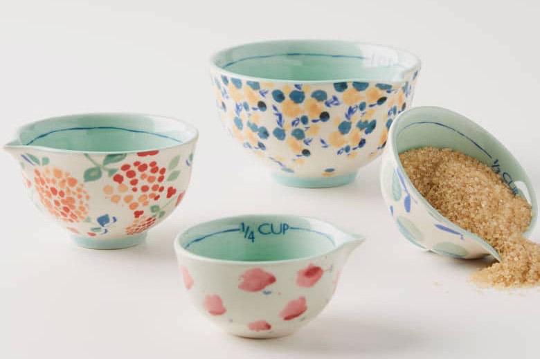Anthropologie Delilah Set of Four Measuring Cups