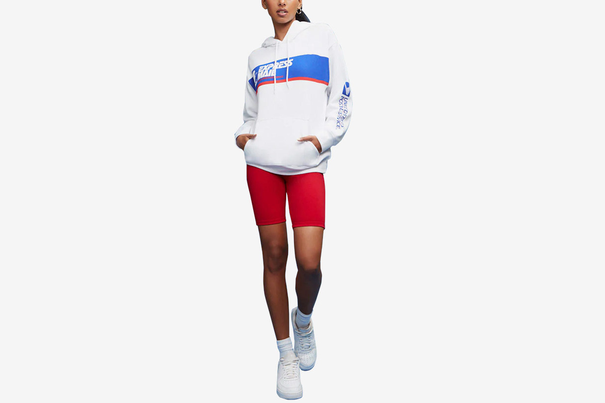 ca2f136065 Forever 21 USPS Express Mail Graphic Hoodie