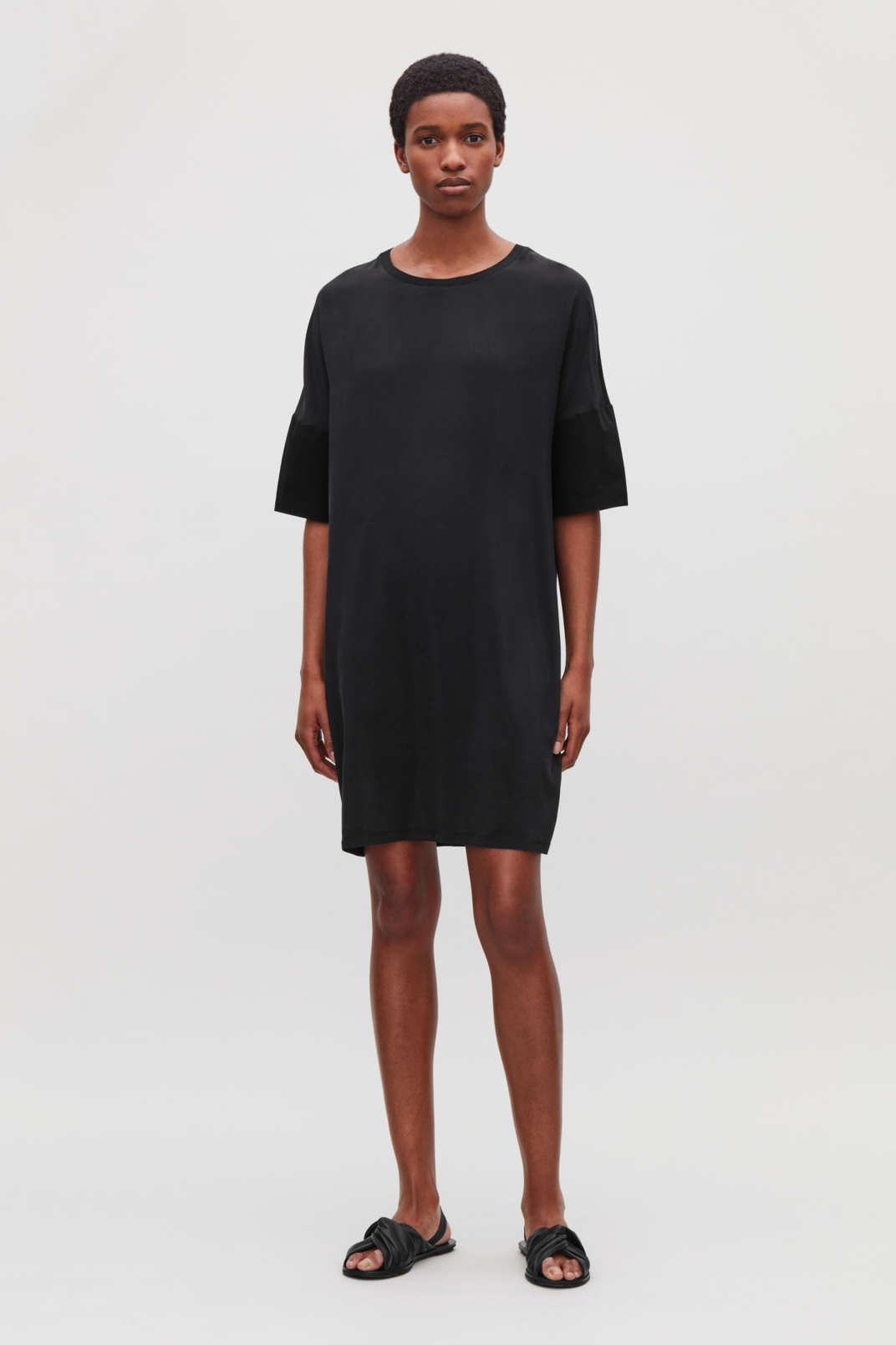 Cos Silk Jersey T-Shirt Dress 33963ff75