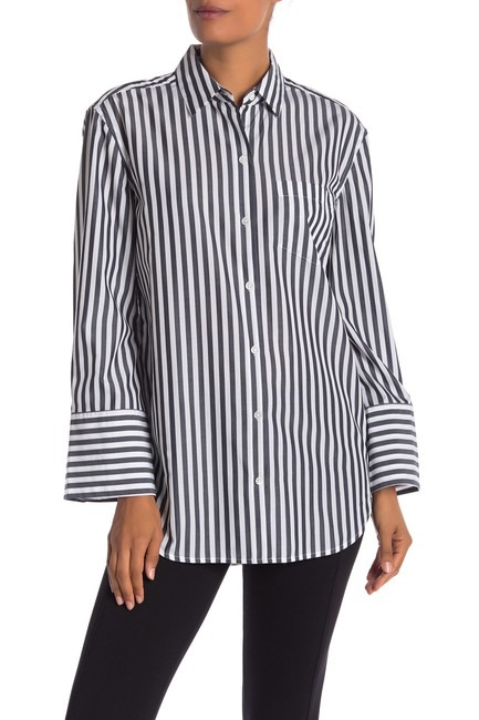 Equipment Clarke Striped Button Up Top