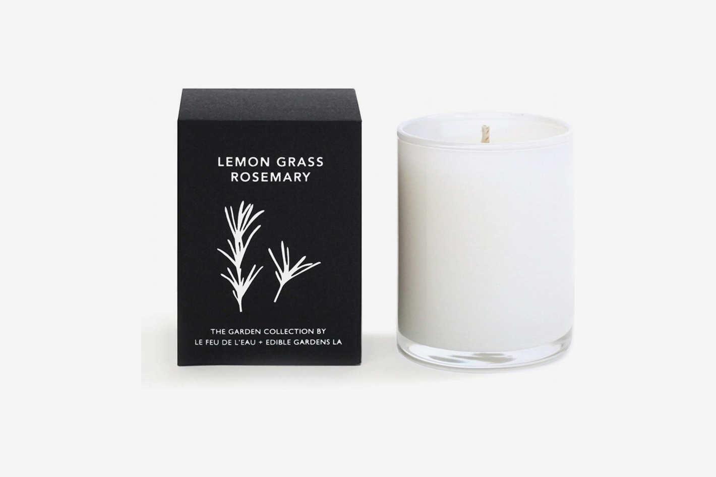 Le Feu de L'Eau Lemongrass Rosemary Candle