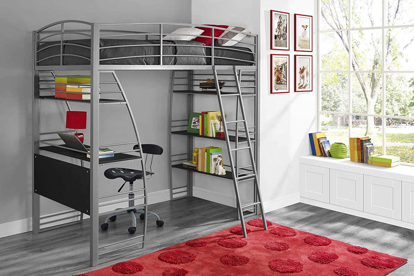 Finest Twin Loft Bunk Bed