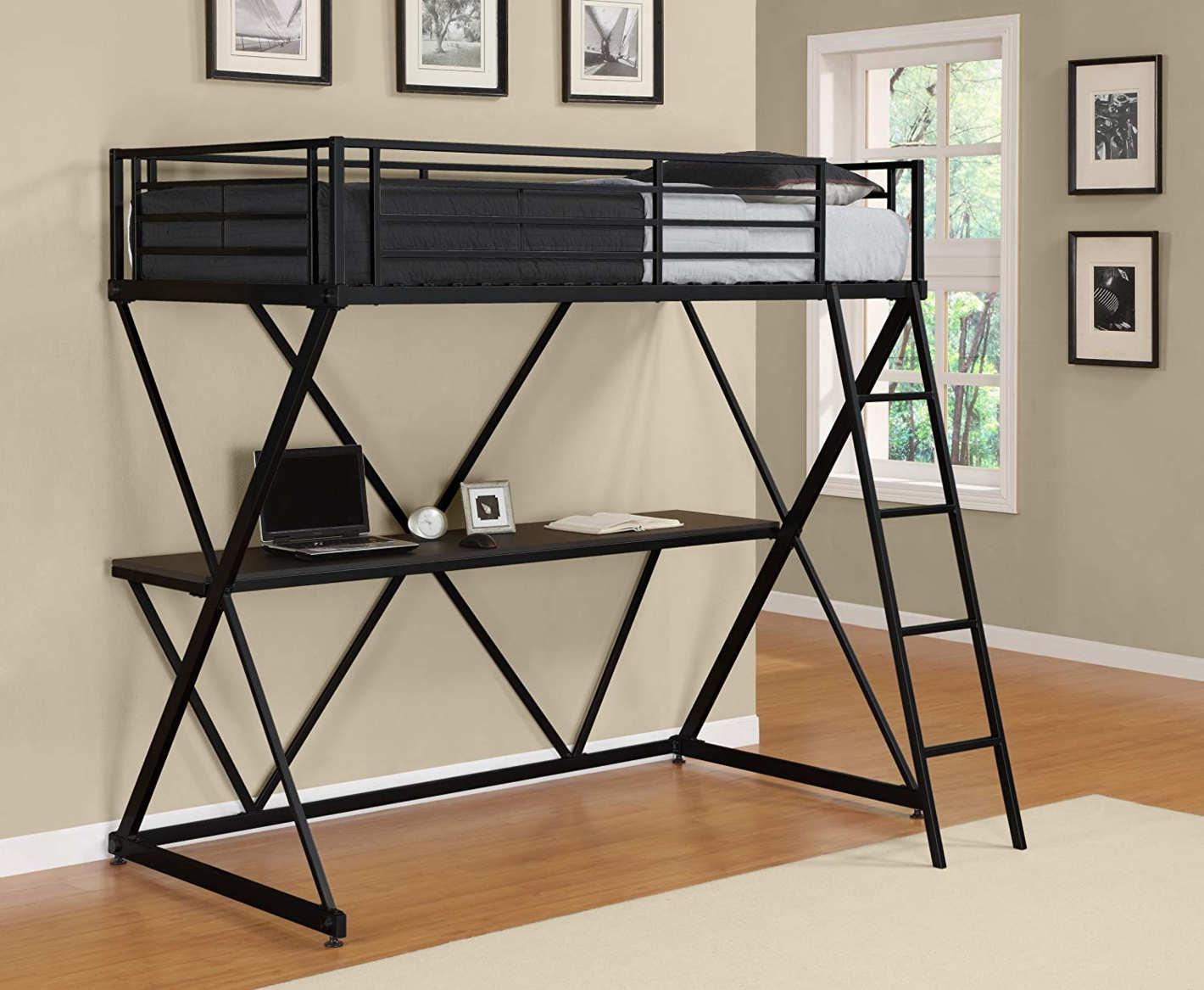 DHP X-Loft Metal Bunk Bed Frame with Desk. \u201c & 12 Best Loft Beds on Amazon: 2019