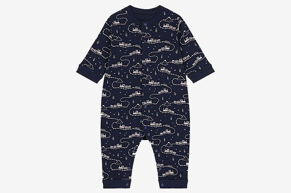 Uniqlo Newborn Long-Sleeve One-Piece