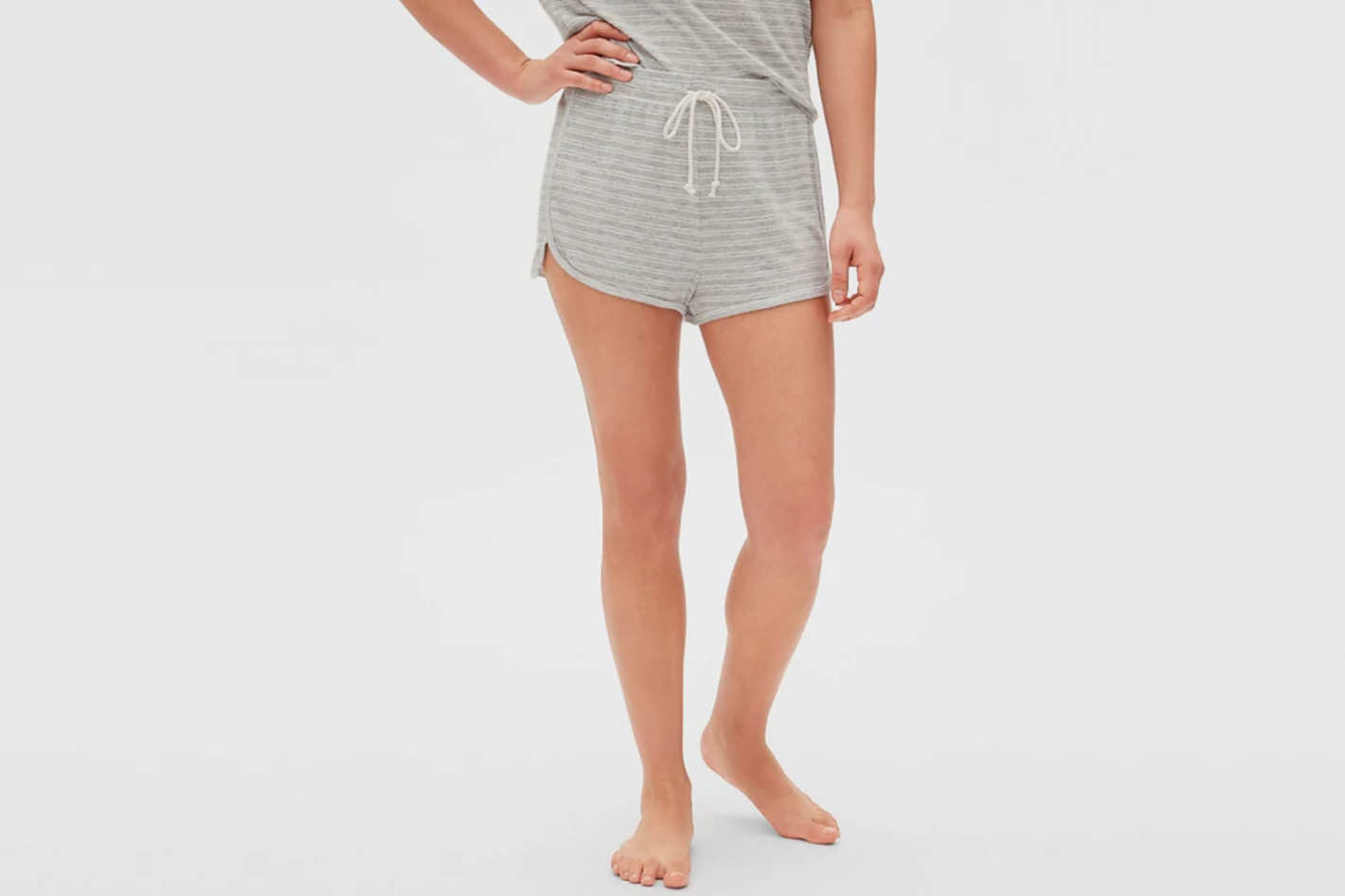 Gap Softspun Stripe Drawstring Shorts