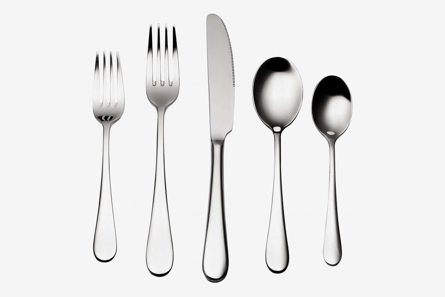 bruntmor silver 18/10 flatware set for eight people