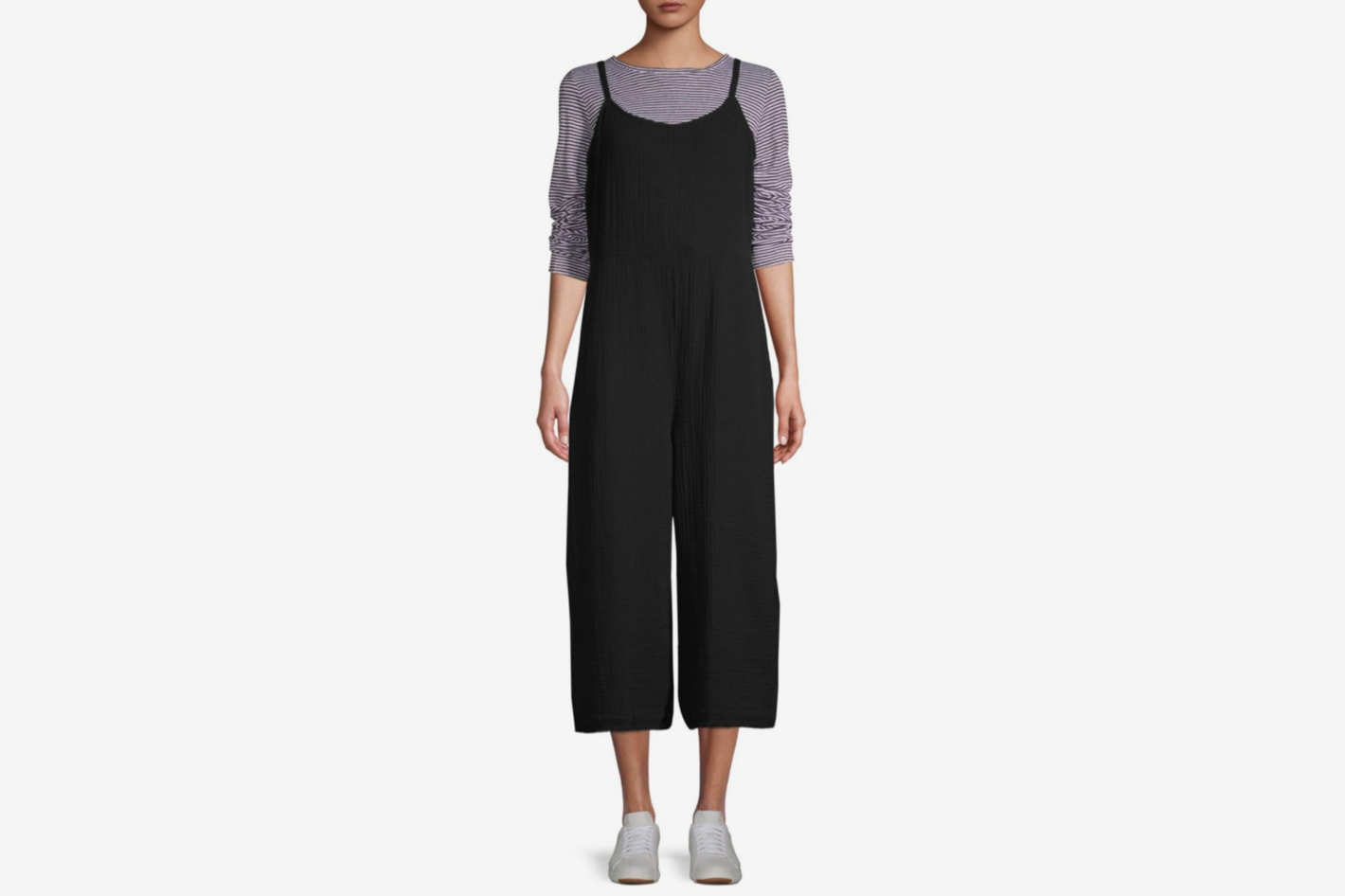 Eileen Fisher Cami Organic Cotton Cropped Jumpsuit