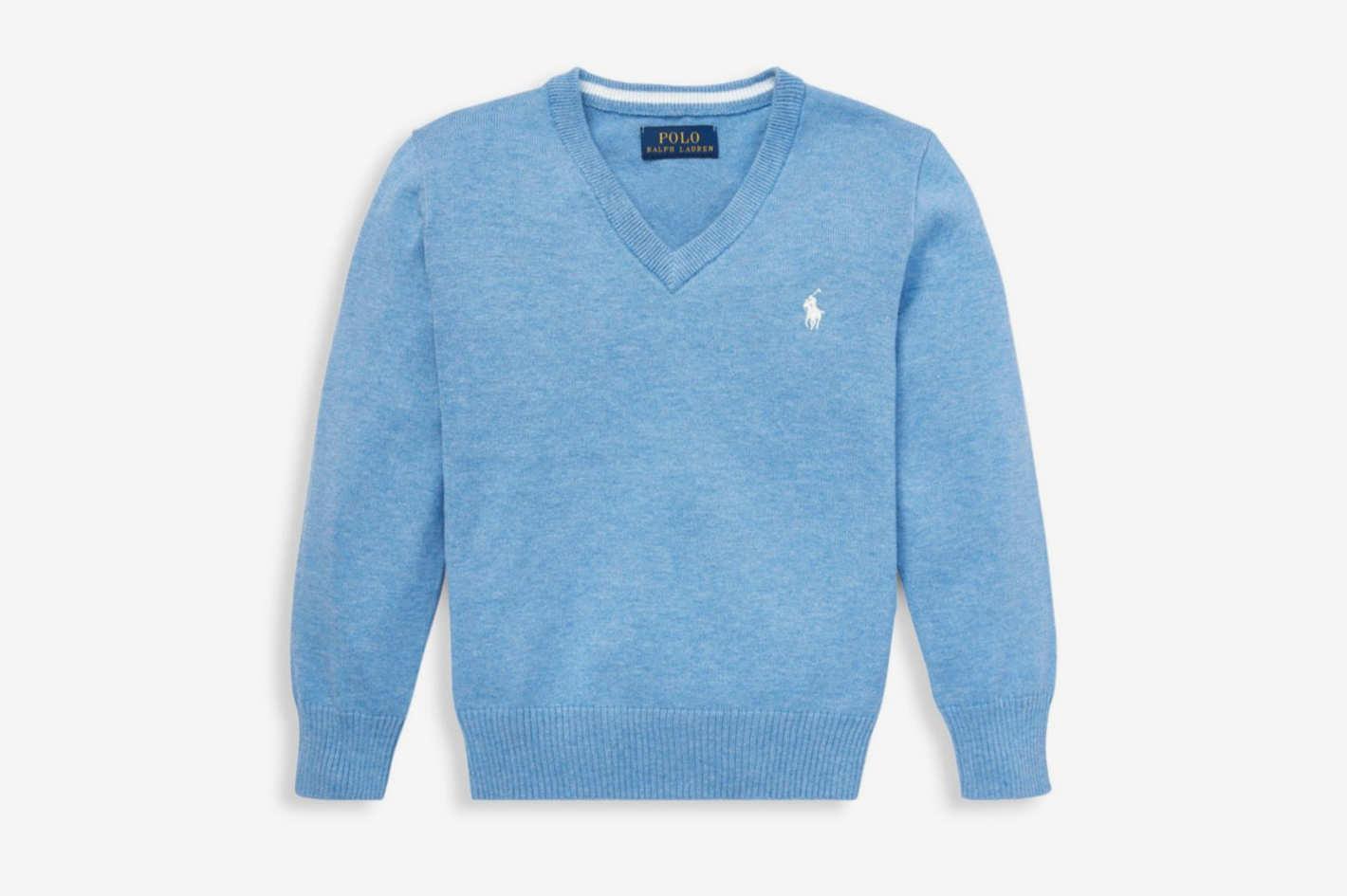 Ralph Lauren Little Boy's & Boy's Cotton V-Neck Sweater