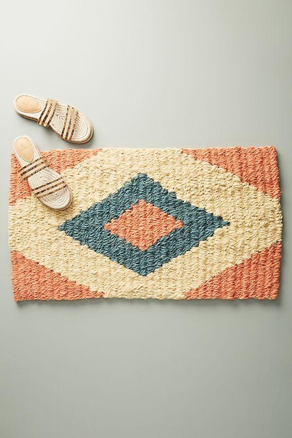 Coral Diamond Doormat