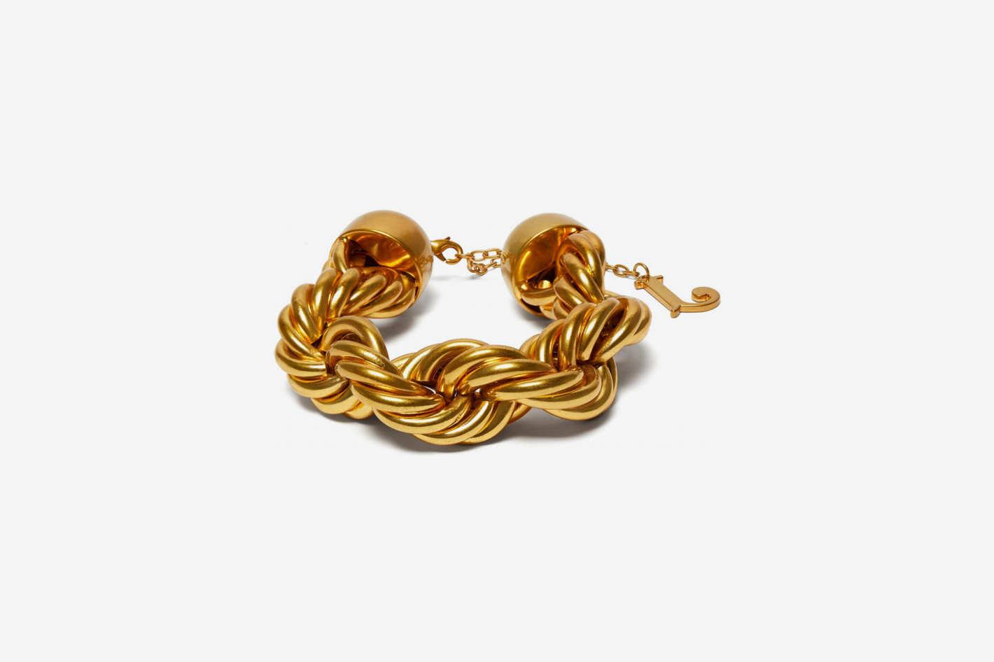 JacquemusLe Bracelet Braided-Metal Bracelet