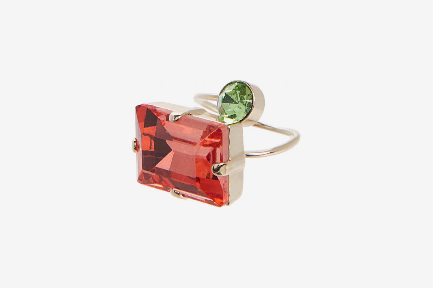 Dries Van Noten Emerald Cut Duo Ring