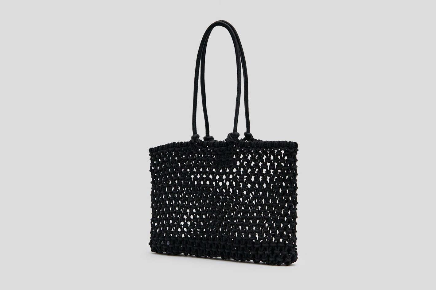 Clare V. Sandy Rope Tote Bag in Black