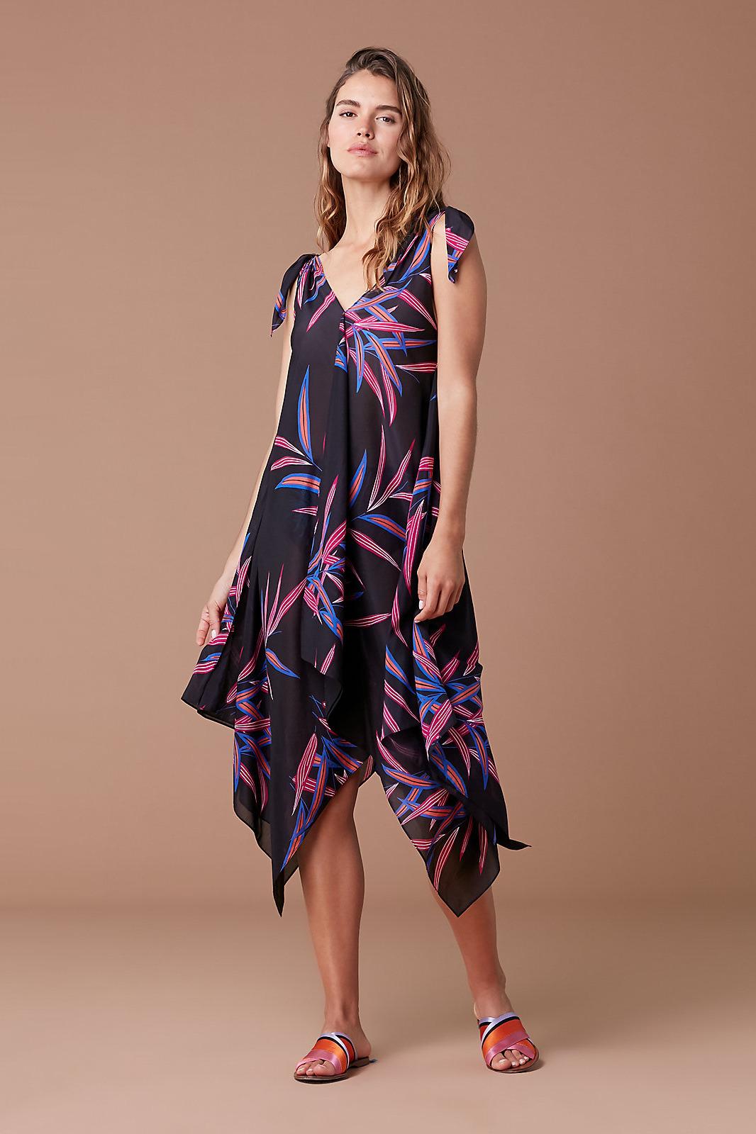 Diane von Furstenberg Sleeveless Ruffle Voile Maxi Dress