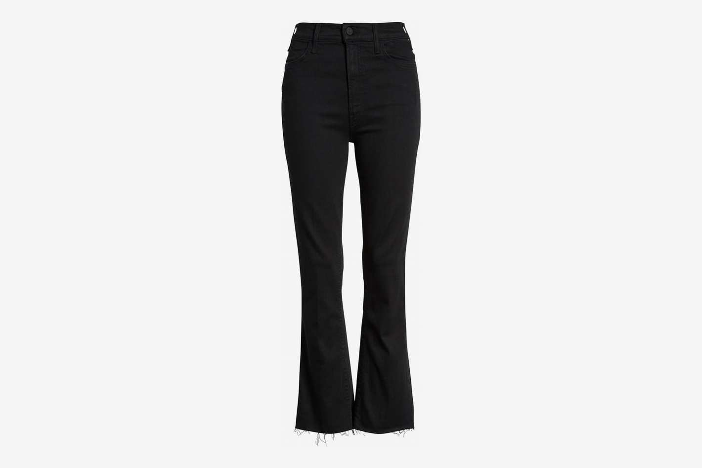 "Mother ""The Hustler"" High Waist Ankle Fray Jeans"