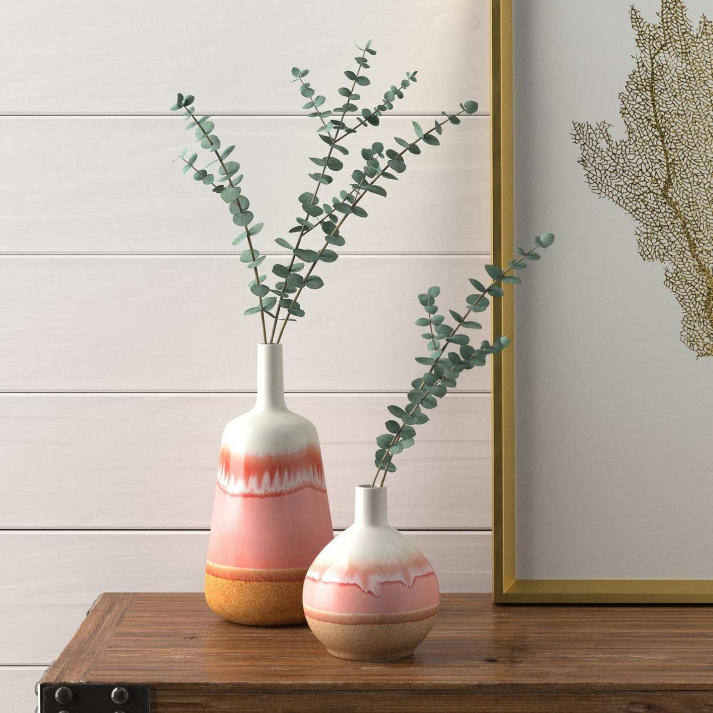 Stone & Beam Modern Ceramic Flower Vase