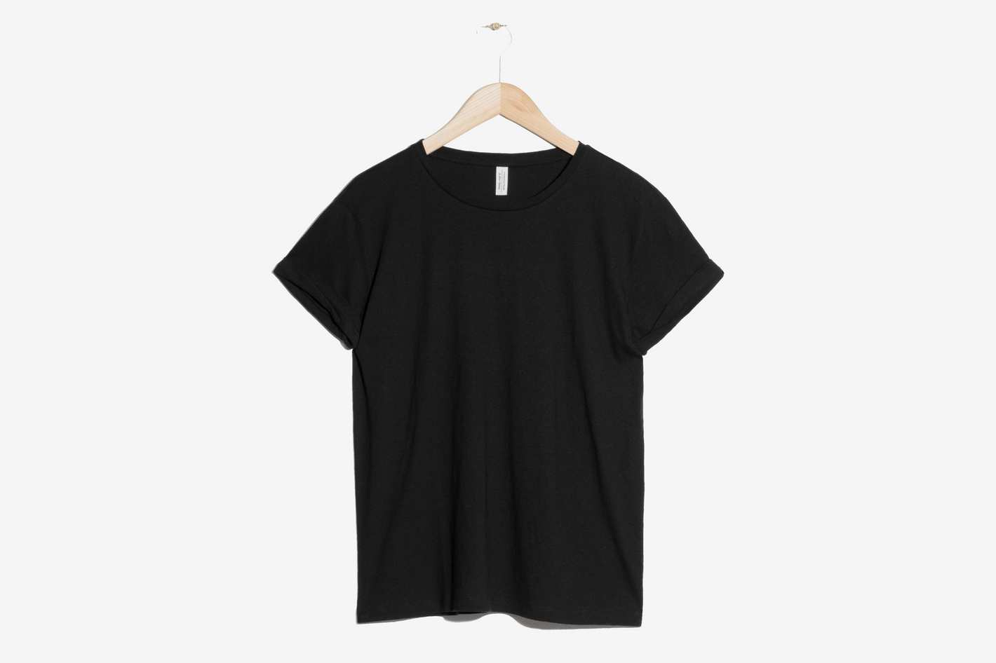 b189ddaa22a1d Best rolled-sleeve black T-shirt.   Other Stories Cotton Tee
