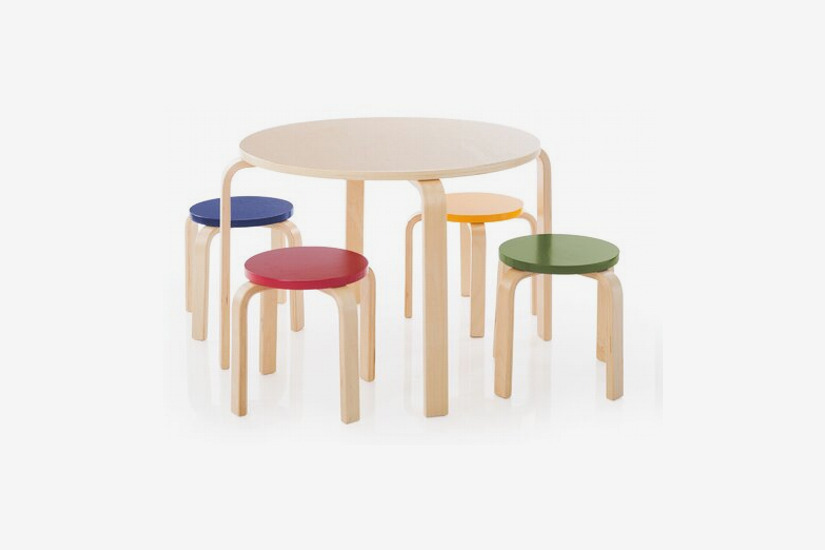 Kahn Kids Round Table and Stool Set
