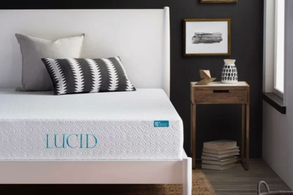 Lucid 10 Inch Medium Gel Memory Foam Mattress