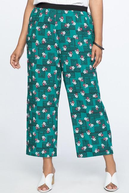 Eloquii Printed Wide Leg Culotte Pant