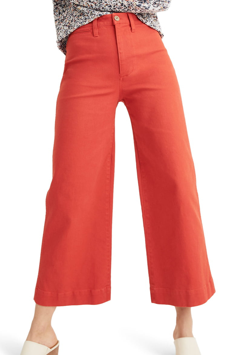Madewell Emmett Crop Wide Leg Pants, Americana Red