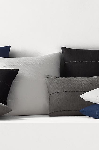 Restoration Hardware Sunbrella African-Mud-Cloth Solid Square Pillow Cover