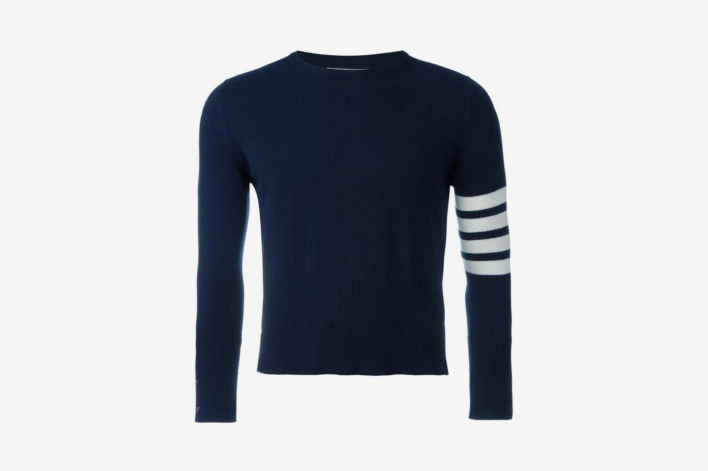 Thom Browne 4-Bar Short Cashmere Pullover