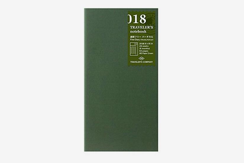 MIDORI Traveler's Notebook Free Diary (Weekly Vertical)