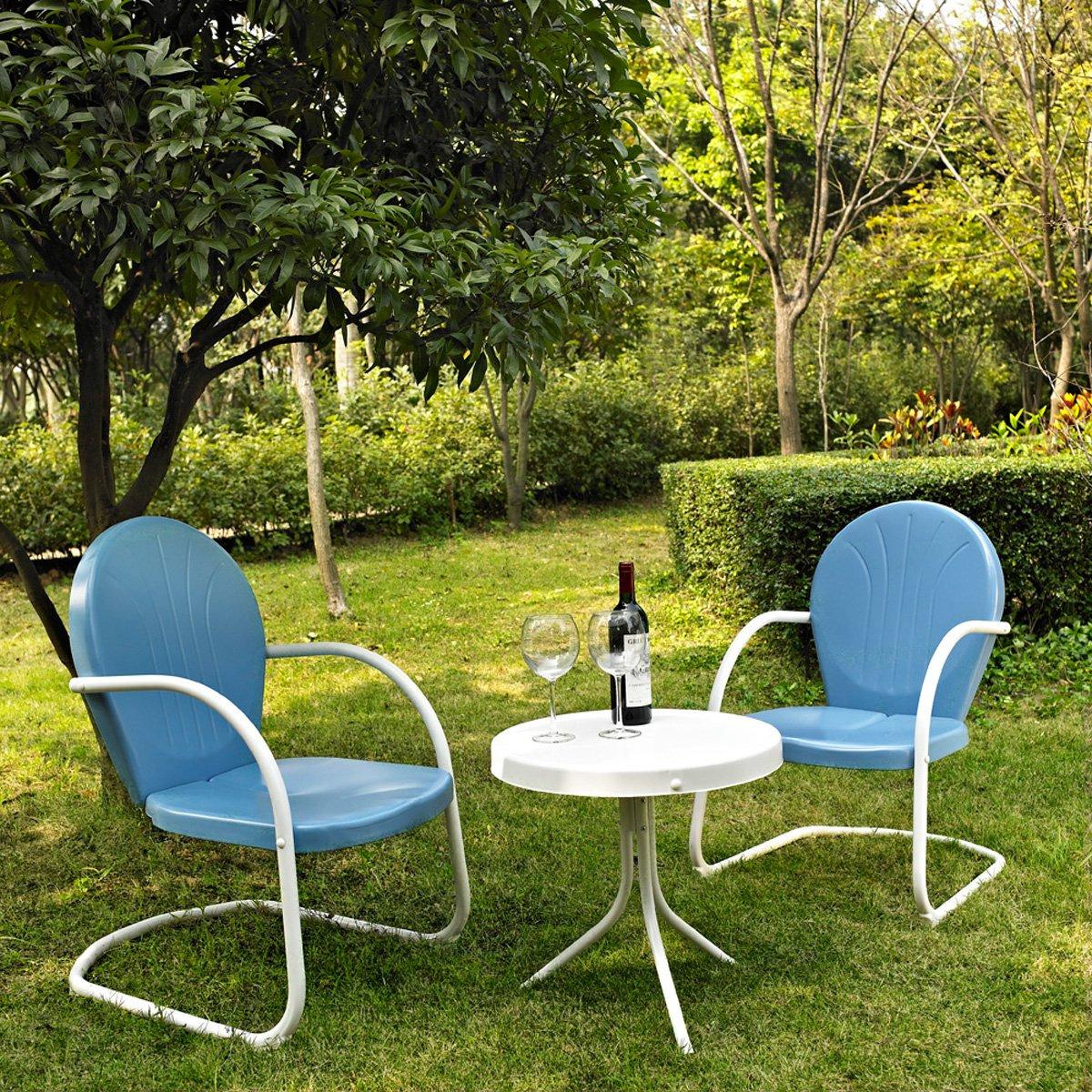Crosley Furniture Griffith Three Piece Metal Outdoor Conversation Set