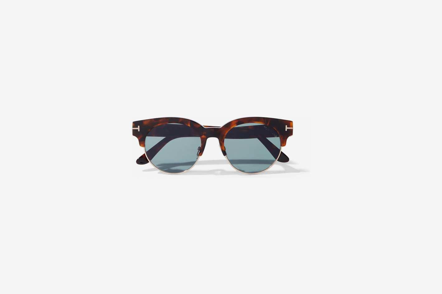 cef74c1f1 Tom Ford D-frame Tortoiseshell Acetate and Gold-tone Sunglasses