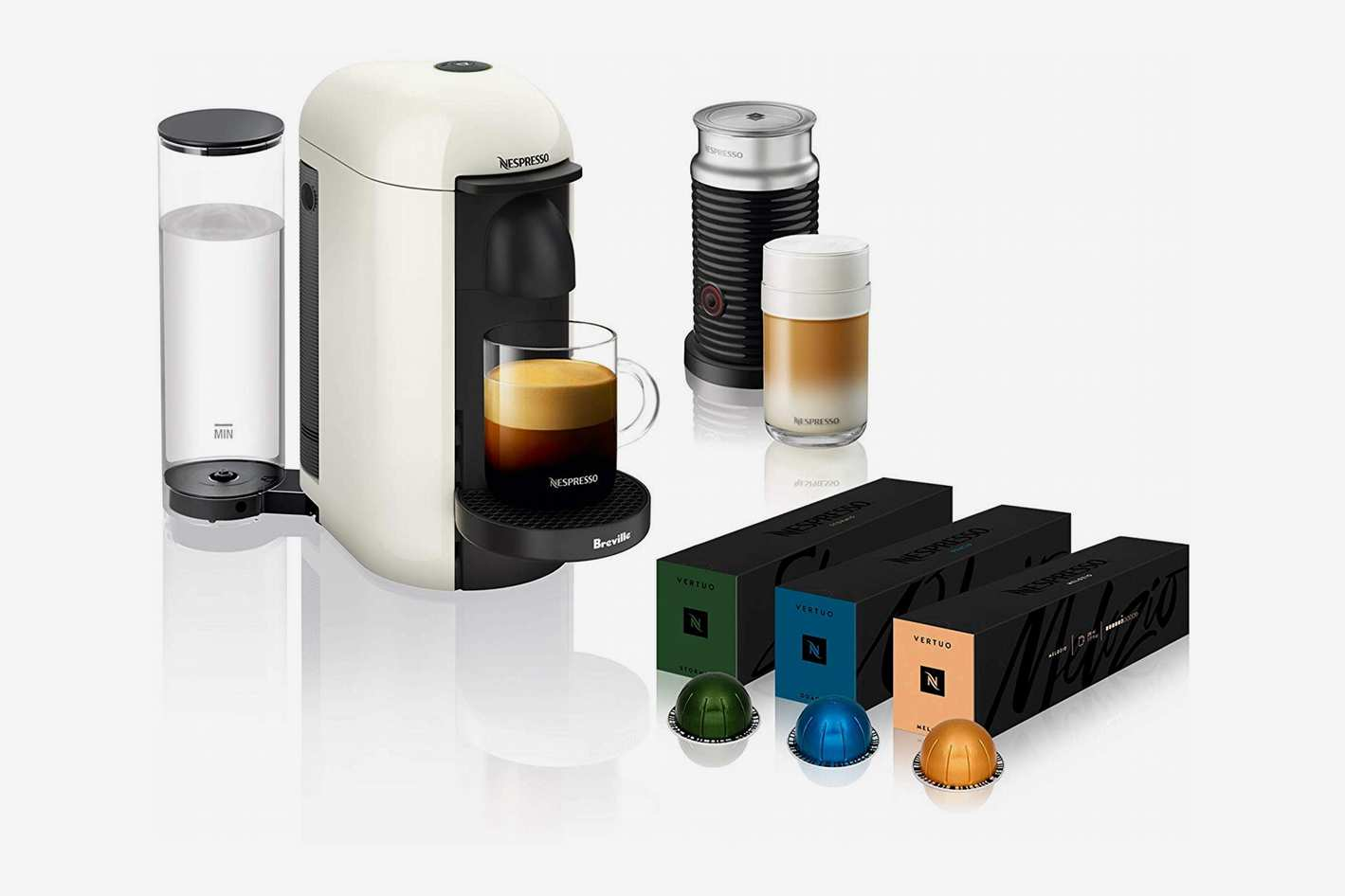 Nespresso VertuoPlus Coffee and Espresso Machine with Aeroccino Milk Frother
