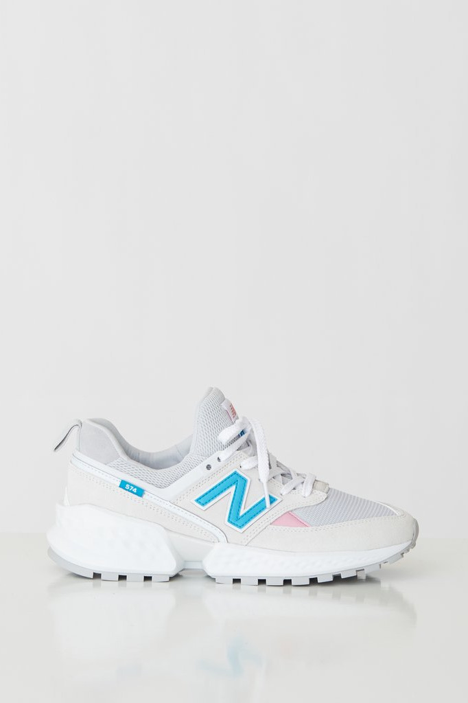 New Balance 574 Sport Suede Mesh Sneakers