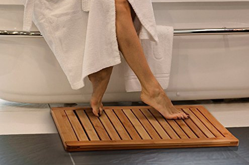 Bambusi Bamboo Bathroom Shower Floor Mat