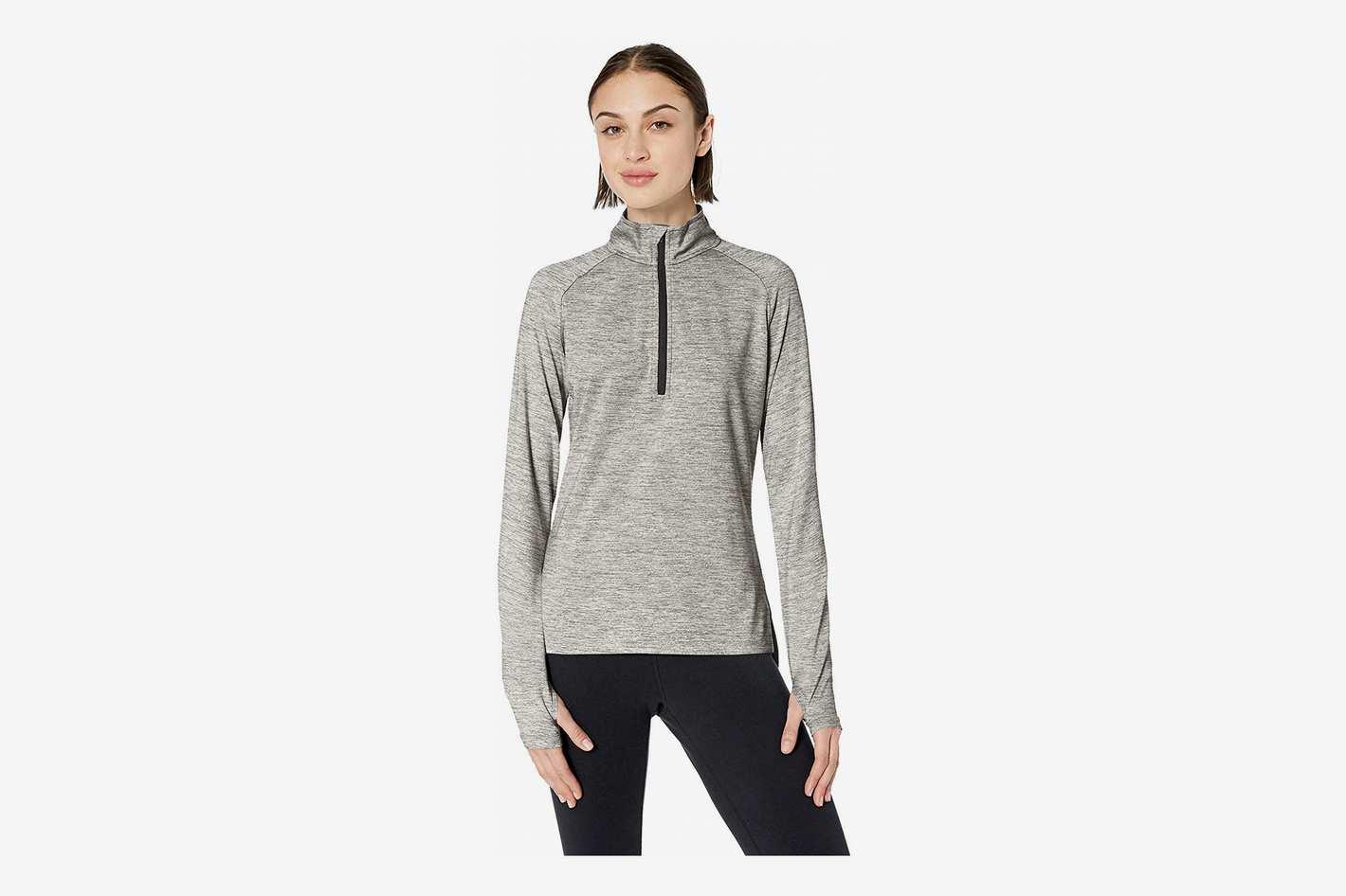 73e6f01d5deb Amazon Brand Core 10 Women's Soft Tech Workout Half-Zip Long Sleeve Top