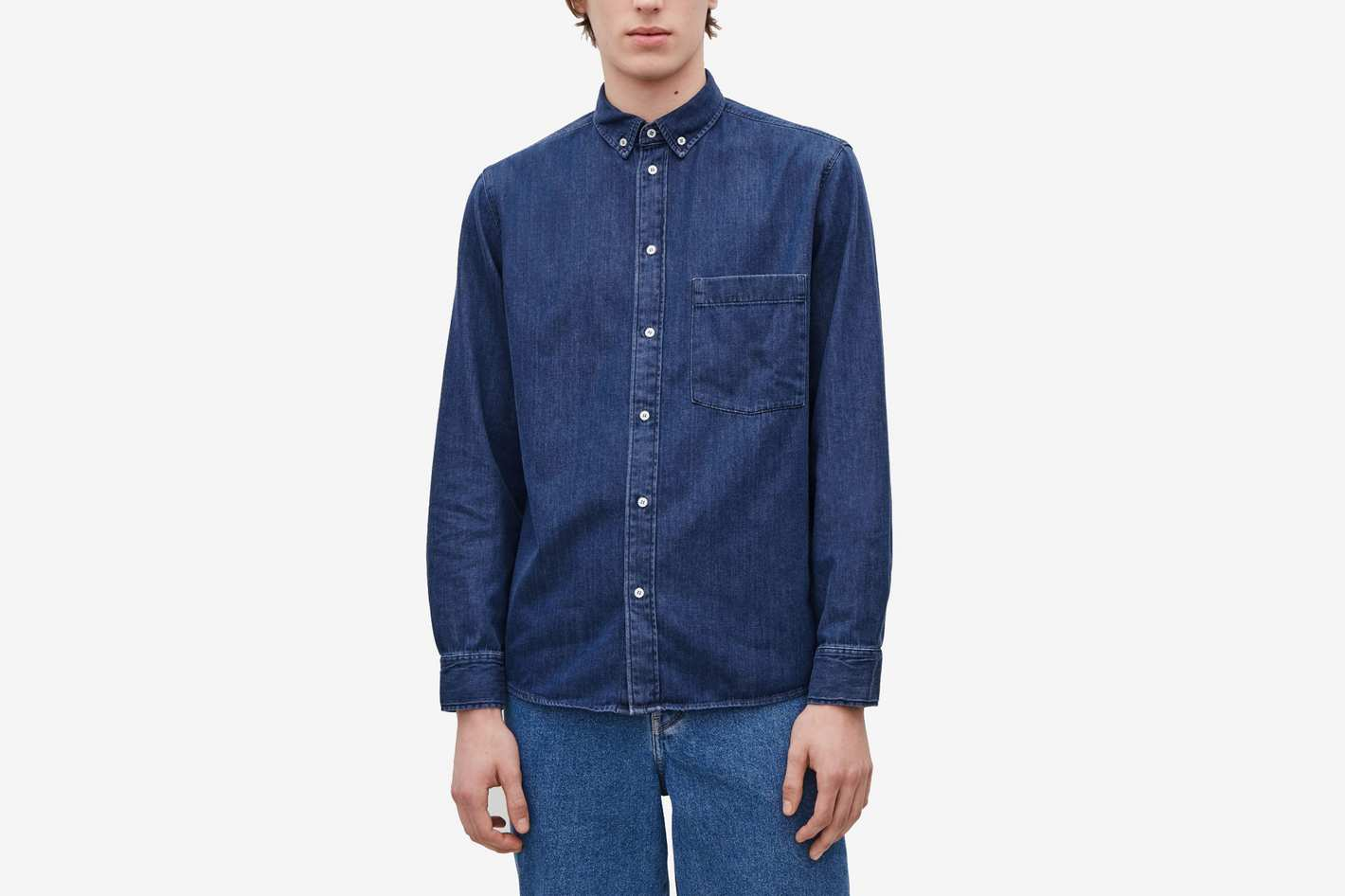 COS Denim Shirt, Dark Denim Blue