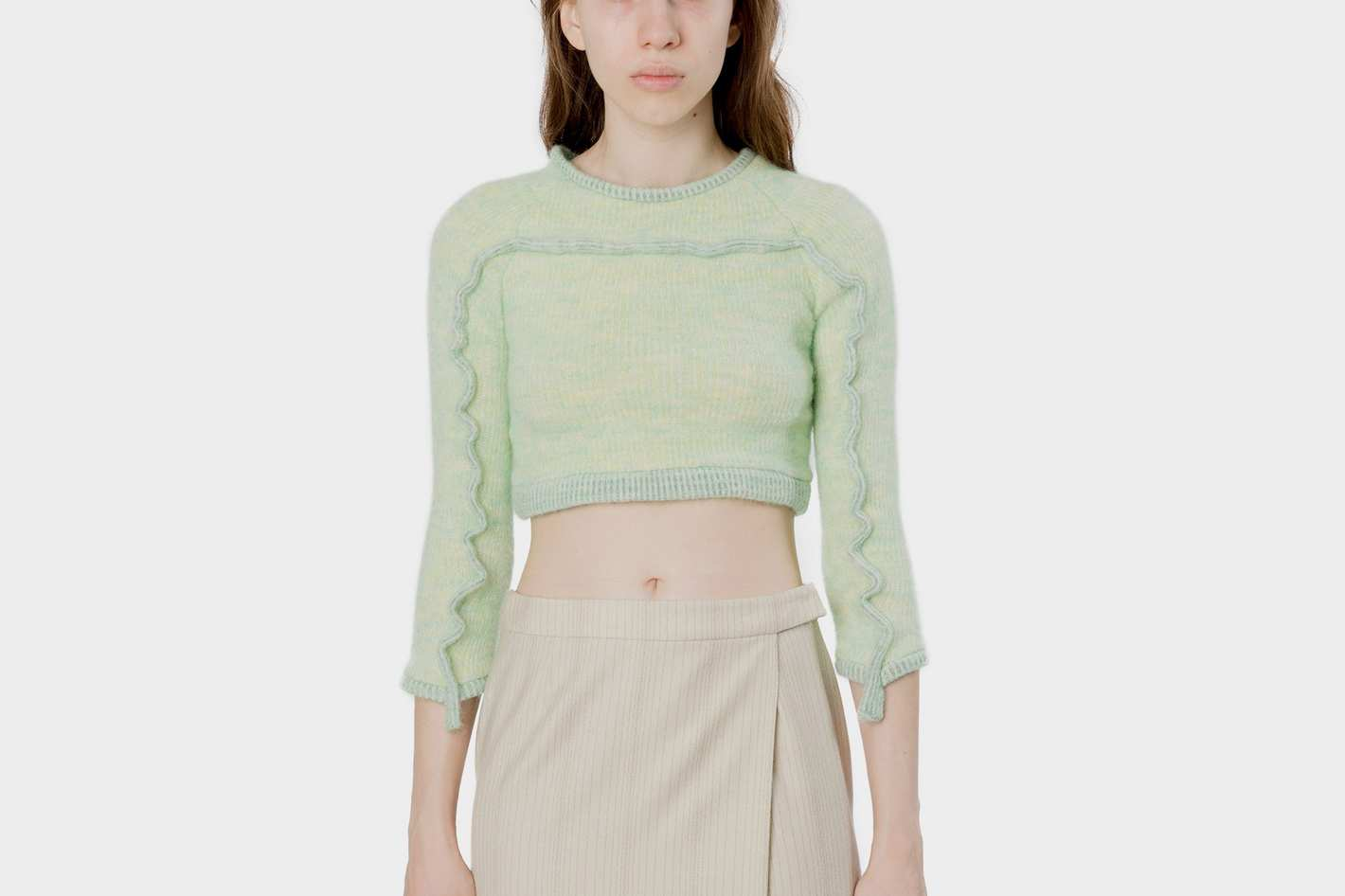 Eckhaus Latta Bib Sweater Mint