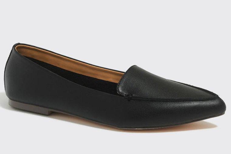 J. Crew Factory Edie Leather Loafers