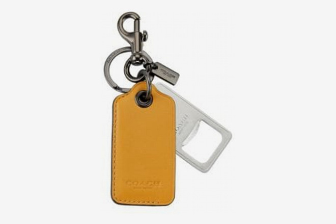 Coach Leather Bottle-Opener Keychain