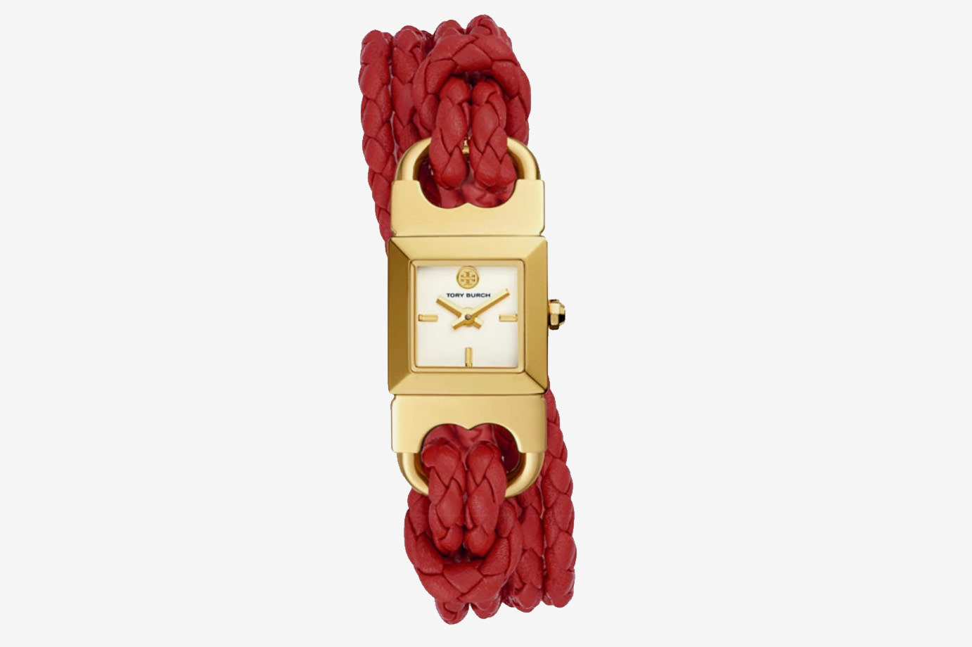 Tory Burch Double T Link Braided Watch