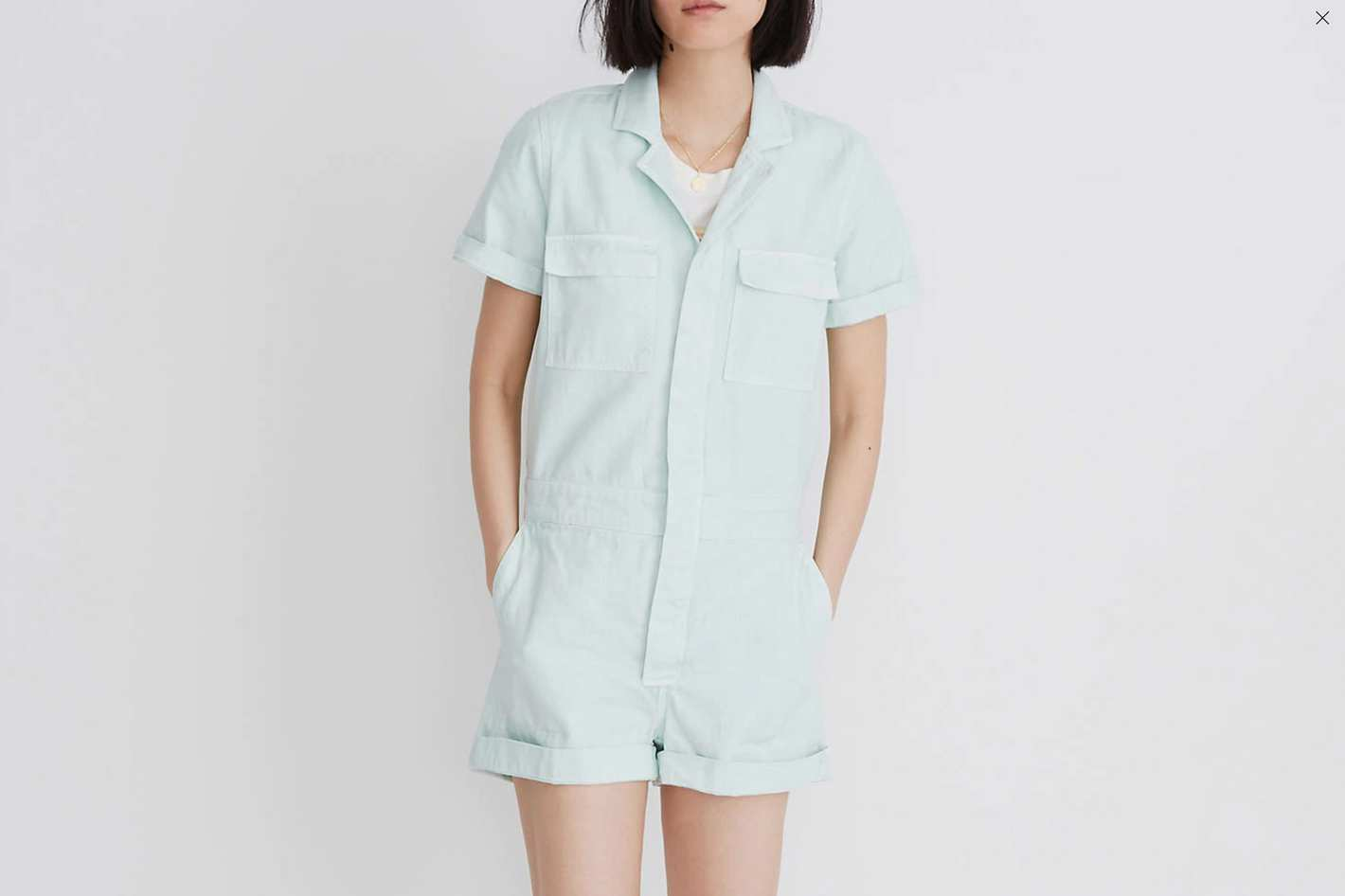 Madewell Denim Coverall Romper