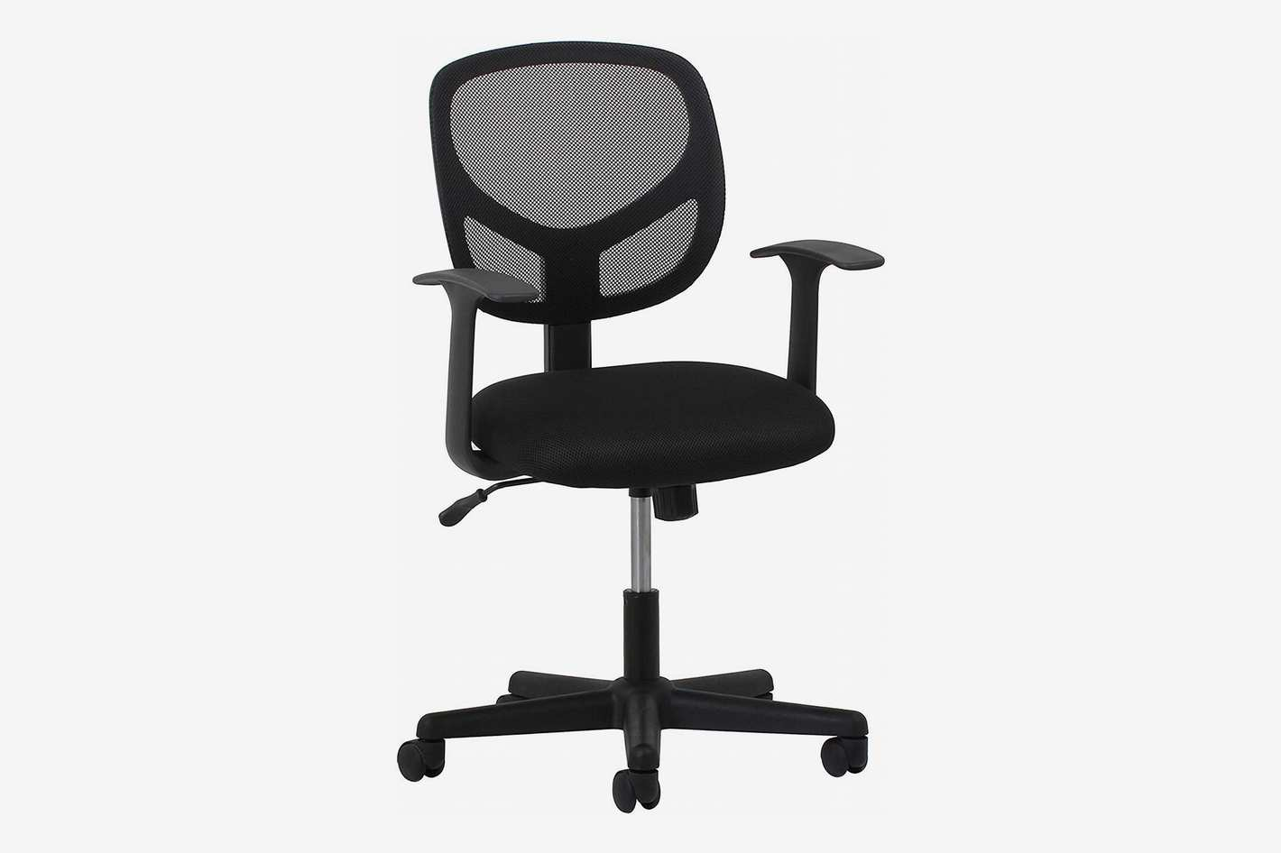 OFM Essentials Swivel Mid Back Mesh Task Chair with Arms