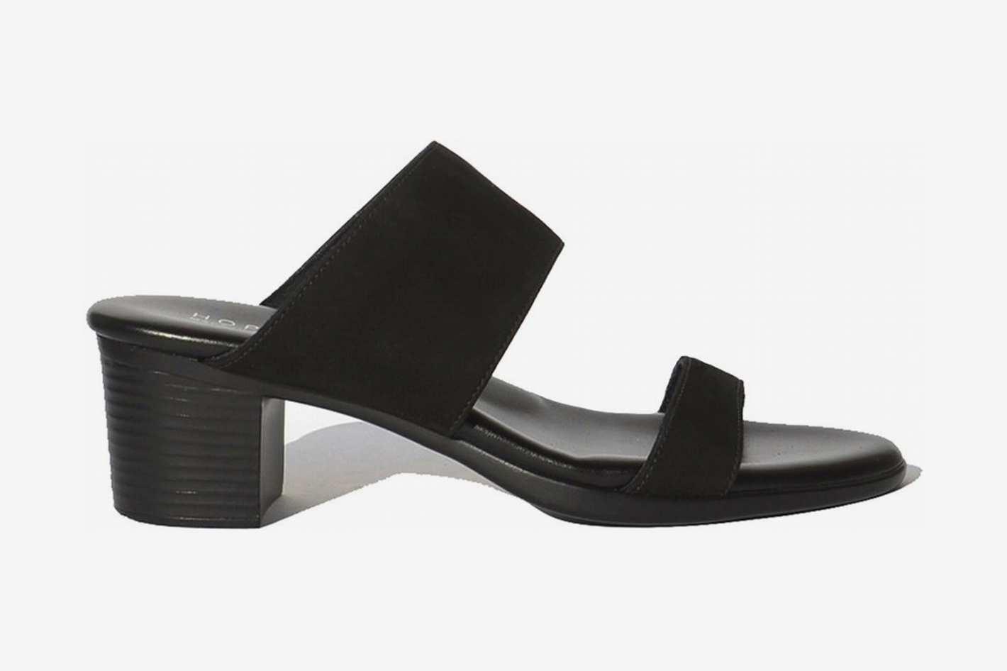 Hopp Two Strap Sandal - Black Nubuck